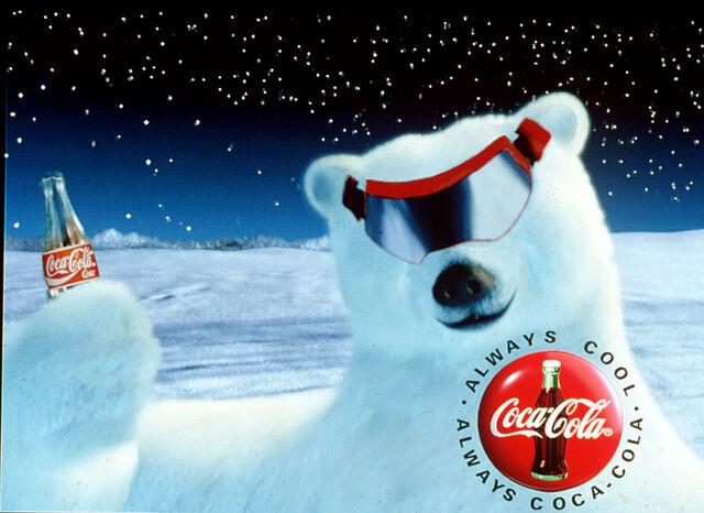 File:Polar bear ski goggles-White-Coke-Cans-Support-White-Polar-Bears.jpg