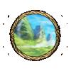 Item grassy mountainside background