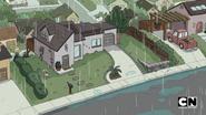 Jeff's house in the rain