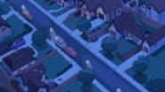 Clarence's Neighborhood at night