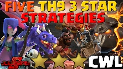 FIVE TH9 3 Star Attack Strategies 2017 Clash of Clans