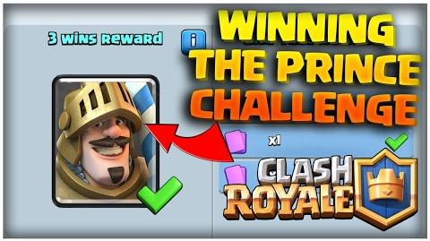 Clash Royale How to Win the Prince Card Challenge