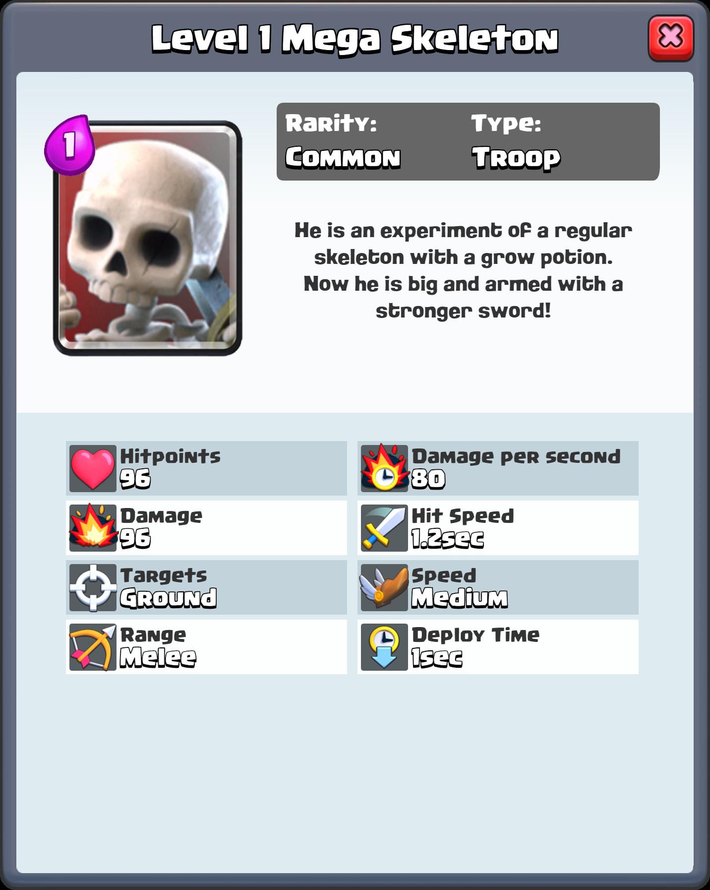 Image Level 1 Mega Skeleton Fq Png Clash Royale Wiki