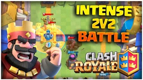 Clash Royale 2v2 Clan Battle and Chest Opening