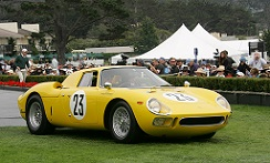 Ferrari 250 LM, Chassis 5843, at the 2010 Pebble Beach Concours d'Elegance, WM