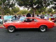 Orange Mach1 Mustang