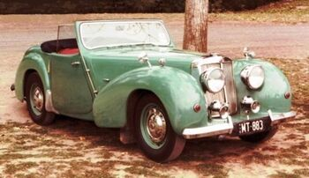 Triumph 2000 Roadster (1949) in 1990 at a Melbourne Park, Australia by Ikos