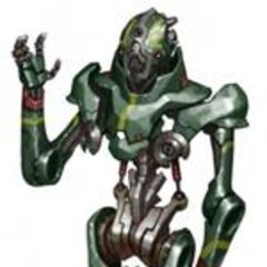 This is an assassin droid Tomm made, styled like one from 3653 BBY