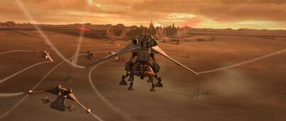 Landing on Geonosis