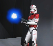 Nike fires at super tactical droid CWA