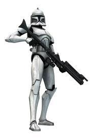 Jaxer in clone trooper armor