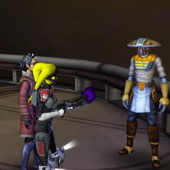 Adni & Zabrak bounty hunter vs Embo