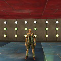 Jock Brogel dancing on his stage.