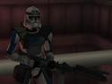 Luke Docker with rifle