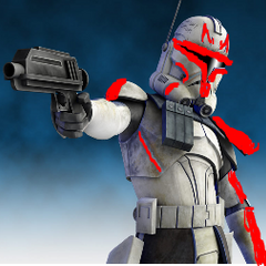 Red Captain Rex (I really had nothing better to do with my time.:))
