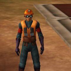 Jock Brogel dressed as a mechanic.