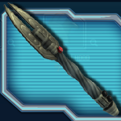 A'dens' remaining saber of his first pair