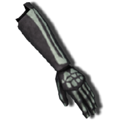 Skeletal Gloves from Halloween (can also be crafted.)