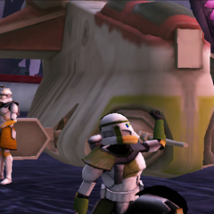 Commander Shox at Gunship on Umbara