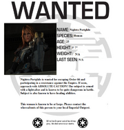 Nightra Portglide Wanted Poster ex 1