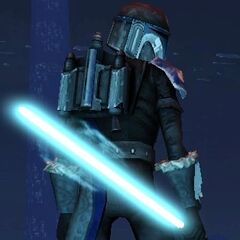 Malek in his re-costomized Cold Warrior Armor in 321 ABY.