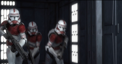 Shock trooper running