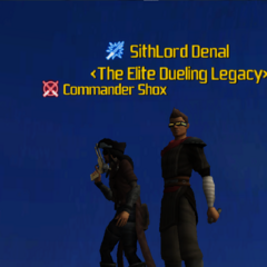 Commander Shox & SithLord Denal