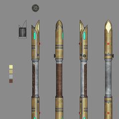 A'den's Jedi temple guard lightsaber pike