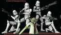 Clones led by Yoda