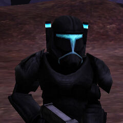 Sigma RC-3507, Aay'han Mereel in his matte  black armor stationed on Felucia