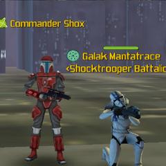 Commander Shox & Galak Mantatrace