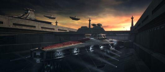 Accumulator docked