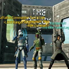 Commander Shox, Sarro Lok & PantherFett