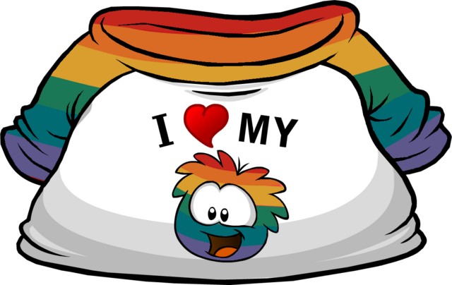 File:I Heart My Rainbow Puffle T-Shirt Custom.png