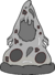 Black and White Pizza icon