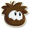 Brown puffle selected