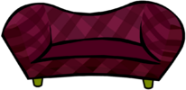 Burgundy Couch clothing icon ID 621
