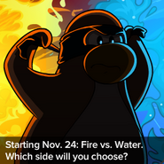 Fire vs Water Advertisement