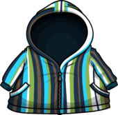 Blue Striped Raincoat