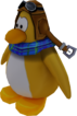 Sled Racer Penguin Model Yellow
