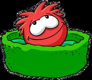 RedPuffleSleepingBed