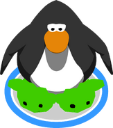 Green Puffle Slippers in-game
