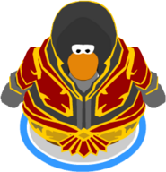 Crimson Plate Mail on a penguin in-game