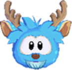 Blue deer 3d icon