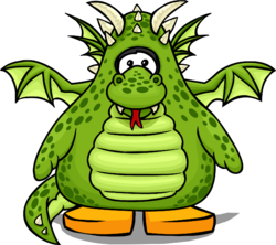 Green Dragon Costume from a Player Card