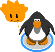 Orange Puffle Balloon in-game