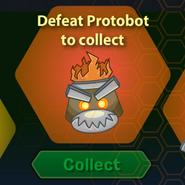 Protobot Helmet Before Defeated