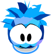 Blue Crystal Puffle Costume In-Game