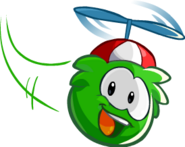 GreenPuffleFlyingRedPropellorCap