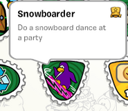 Snowboarder stamp stampbook